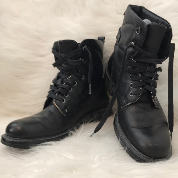 bc84b450400 Aldo Shoes | Mens Black Leather Combat Boots | Poshmark